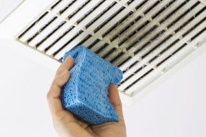 how to clean the bathroom exhaust fan