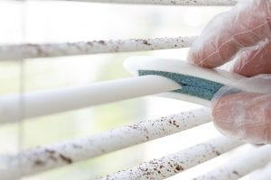 Quick and easy trick to clean window blinds.